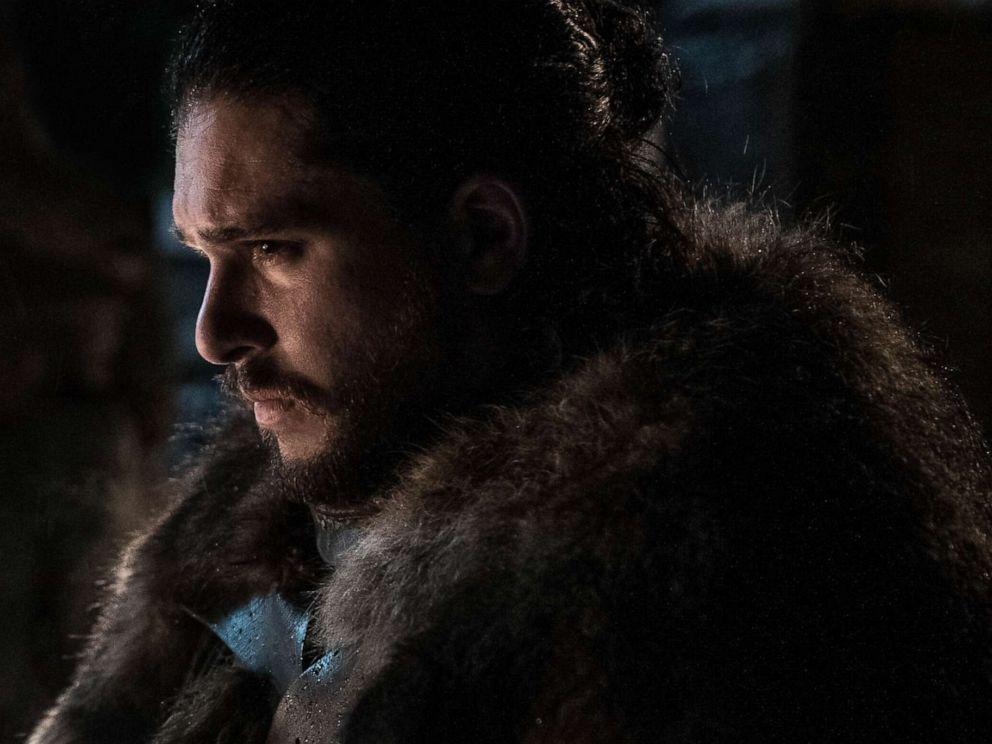 Kit Harington as Jon Snow on Season 8 of Game of Thrones.