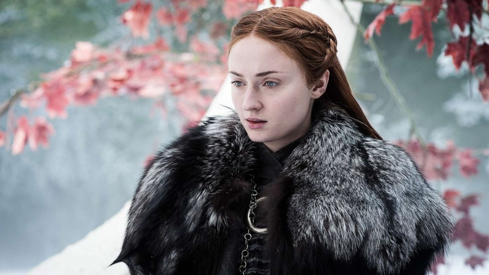 "Sophie Turner, as Sansa Stark, in a scene from ""Game of Thrones."""