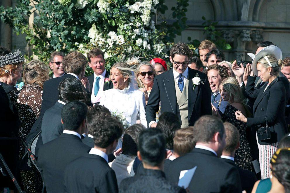 Newlyweds Ellie Goulding and Caspar Jopling leave York Minster