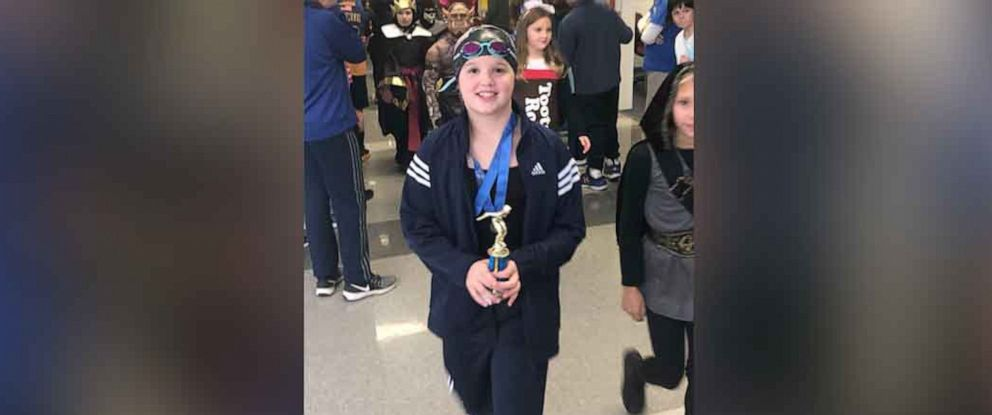 PHOTO: Grace Largent dressed as five-time Olympic gold medalist Katie Ledecky for Halloween.