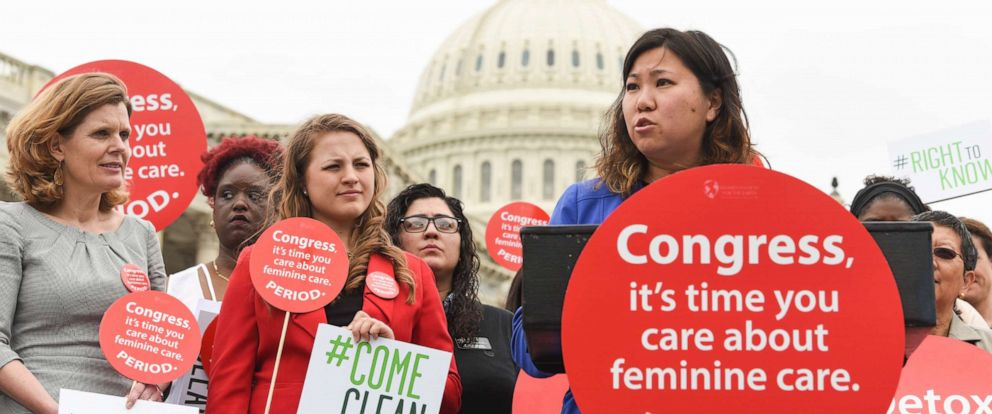 PHOTO: Rep. Grace Meng speaks at a Womens Voices for the Earths womens health rally supported by Seventh Generation on the grounds of the Capitol on May 23, 2017, in Washington.