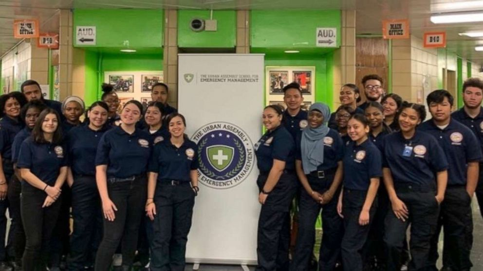 PHOTO: Twenty-nine of the 58 graduating seniors at the Urban Assembly School for Emergency Management in NYC will become certified EMTs.