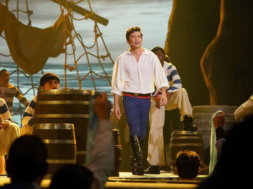 PHOTO: Graham Phillips, as Prince Eric, performs in the live musical event showcasing The Little Mermaid on ABC.