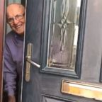 Jennifer Barclay, 24, of Scotland, records her grandfather each time he greets her at the door.