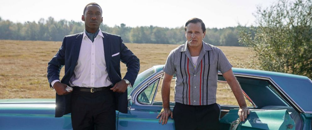 """PHOTO: Mahershala Ali as Dr. Donald Shirley and Viggo Mortensen as Tony Vallelonga in """"Green Book,"""" directed by Peter Farrelly."""