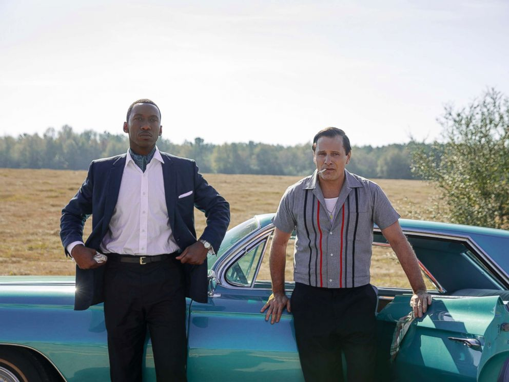 PHOTO: Mahershala Ali as Dr. Donald Shirley and Viggo Mortensen as Tony Vallelonga in Green Book, directed by Peter Farrelly.