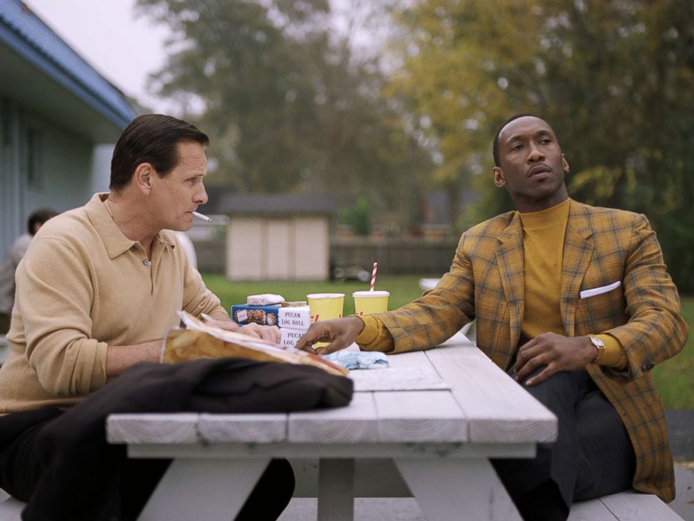 PHOTO: Viggo Mortensen as Tony Vallelonga and Mahershala Ali as Dr. Donald Shirley in Green Book, directed by Peter Farrelly.