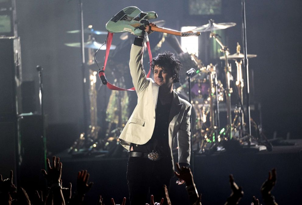 PHOTO: Billie Joe Armstrong, of Green Day, performs a medley at the American Music Awards on Sunday, Nov. 24, 2019, at the Microsoft Theater in Los Angeles.