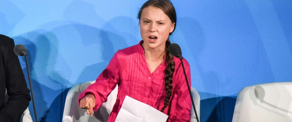 PHOTO: Greta Thunberg speaks at the Climate Action Summit at the United Nations, Sept. 23, 2019, in New York.