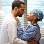 """Jesse Williams and Kelly McCreary appear in an episode of """"Grey's Anatomy."""""""