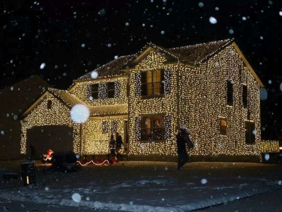 PHOTO: Greg Osterland of Wadsworth, Ohio, uses 25,000 lights to decorate his house each year, just like the film, National Lampoons Christmas Vacation.