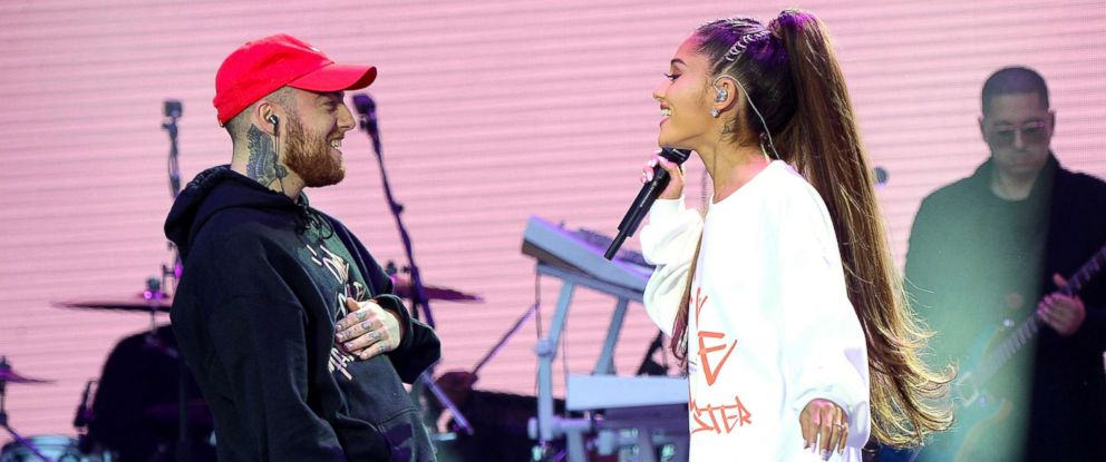 PHOTO: Mac Miller and Ariana Grande perform during the One Love Manchester Benefit Concert on June 4, 2017, in Manchester, England.