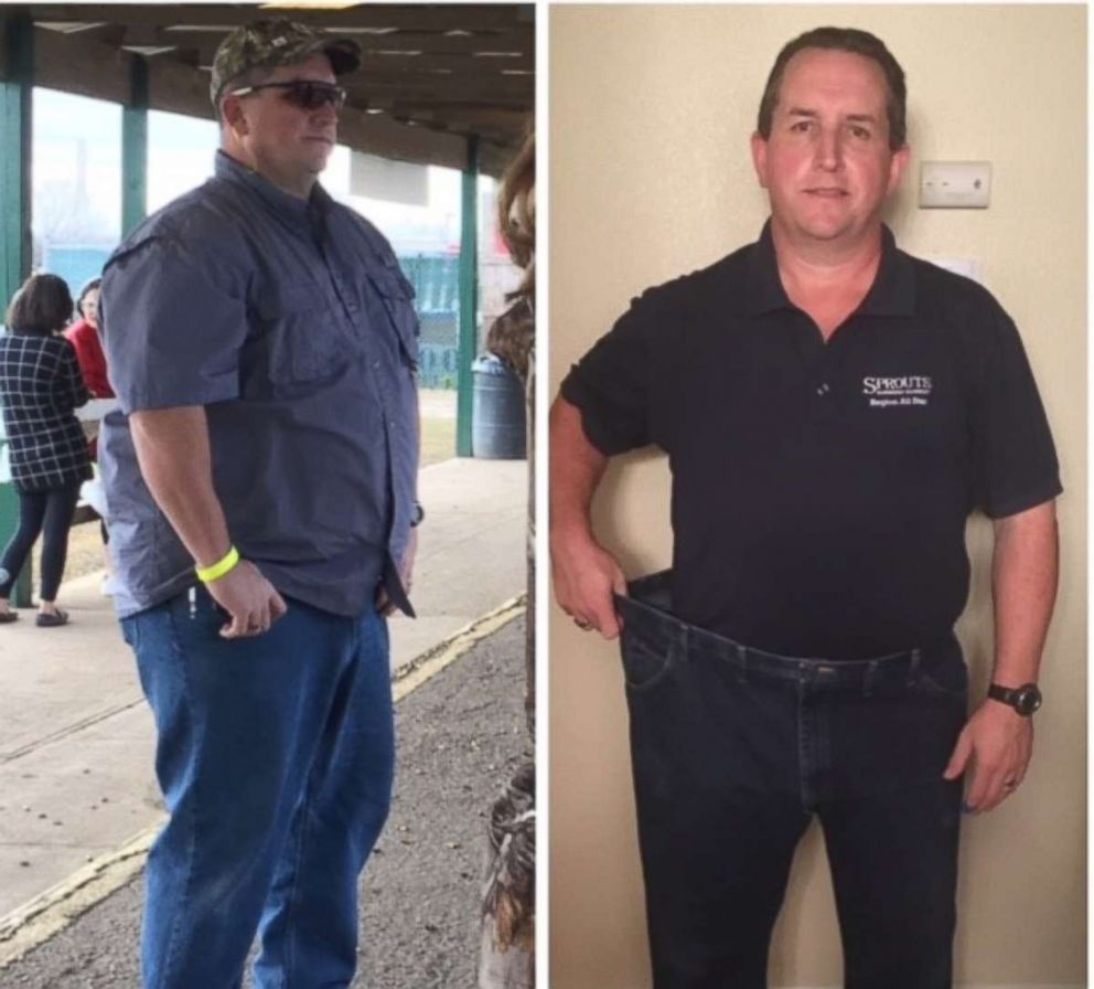 PHOTO: Sprouts employee Farley Hayes is pictured before and after his weight loss.