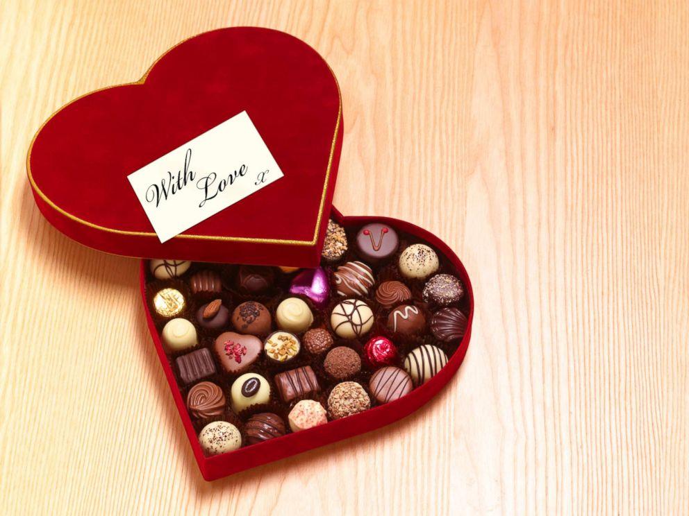 PHOTO: Valentines Day heart shaped chocolates.