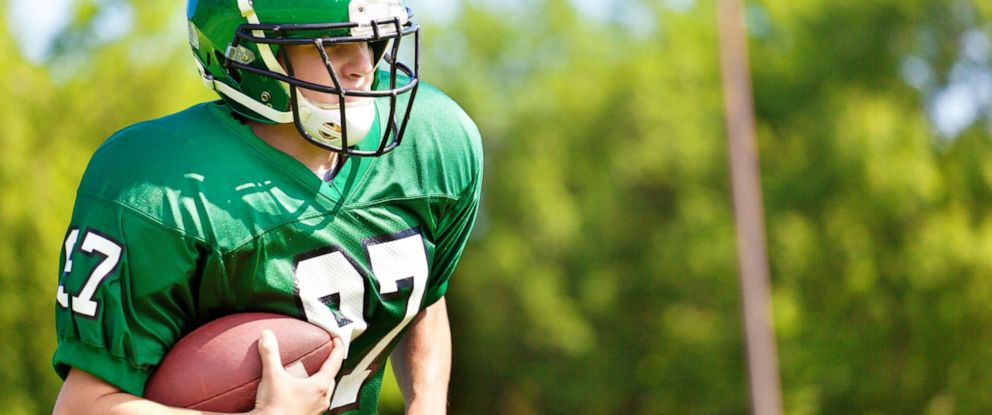 PHOTO: A high school football player is seen in this stock photo.