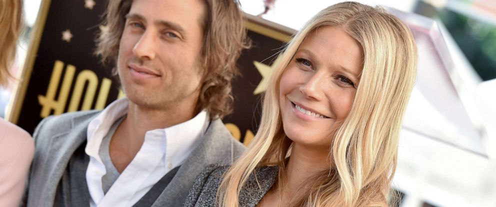 PHOTO: Brad Falchuk and Gwyneth Paltrow attend the ceremony honoring Ryan Murphy with star on the Hollywood Walk of Fame on December 4, 2018, in Hollywood, Calif.