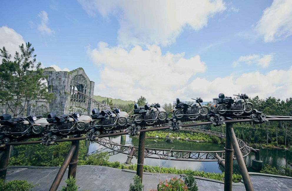 PHOTO: Hagrid's Magical Creatures Motorbike Adventure, opening at Universal Orlando on June 13.