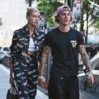 Justin Bieber and Hailey Baldwin seen on the streets of  Manhattan, July 5, 2018, N.Y.