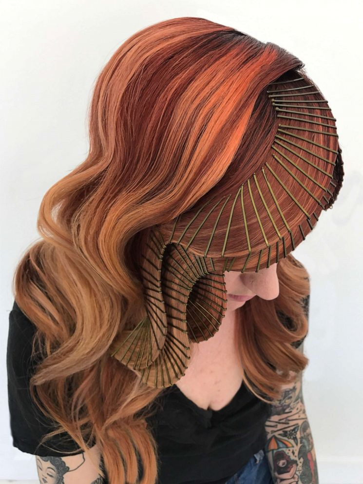 PHOTO: Stylist Casey Powell has a bobby pin technique to create her signature hair sculptures.
