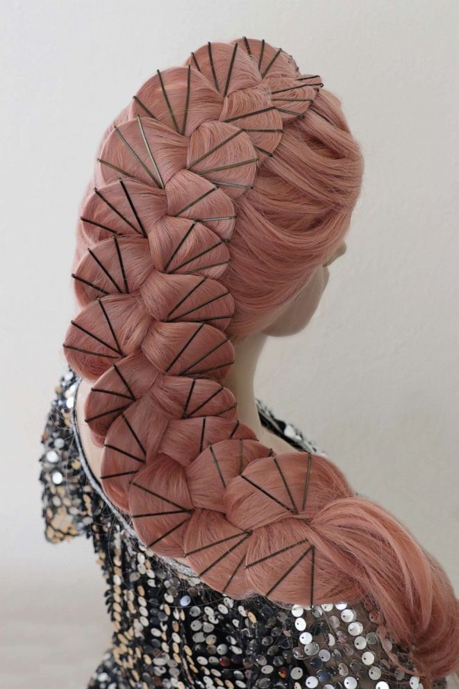 PHOTO: Stylist Casey Powell designed this scalloped braid with approximately 75 bobby pins.
