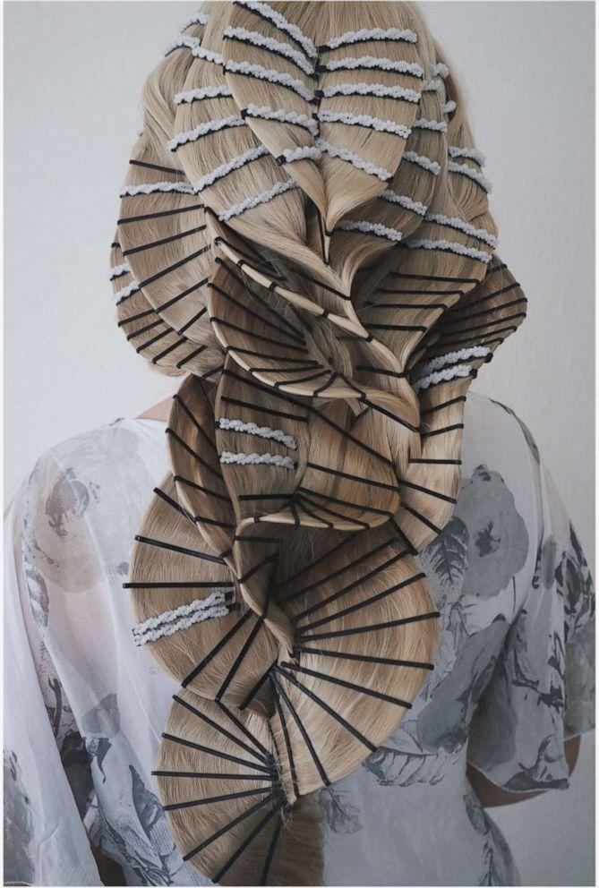 PHOTO: Stylist Casey Powell creates an avant garde braid.