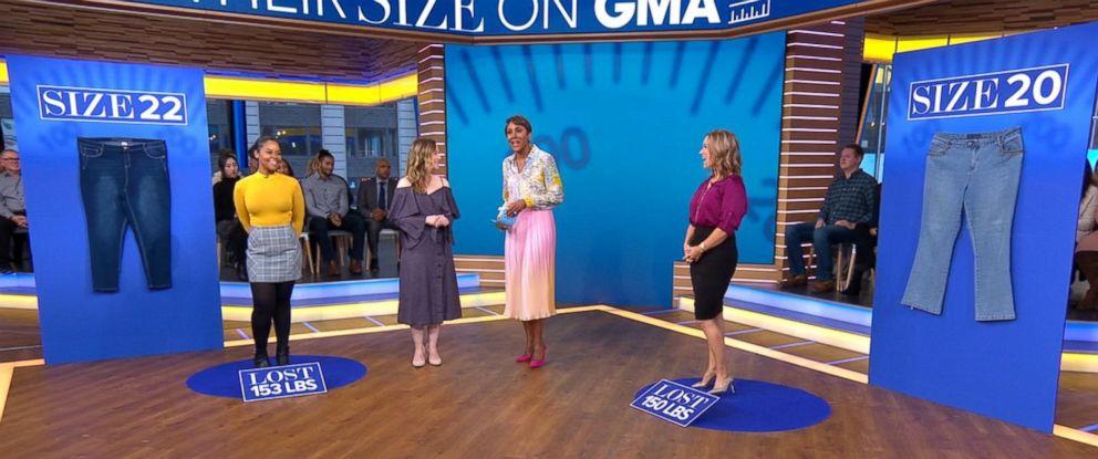 "PHOTO: Tickisha Reid, far left, and Elizabeth Hronek, far right, appear on ""Good Morning America"" on Jan. 3, 2019."
