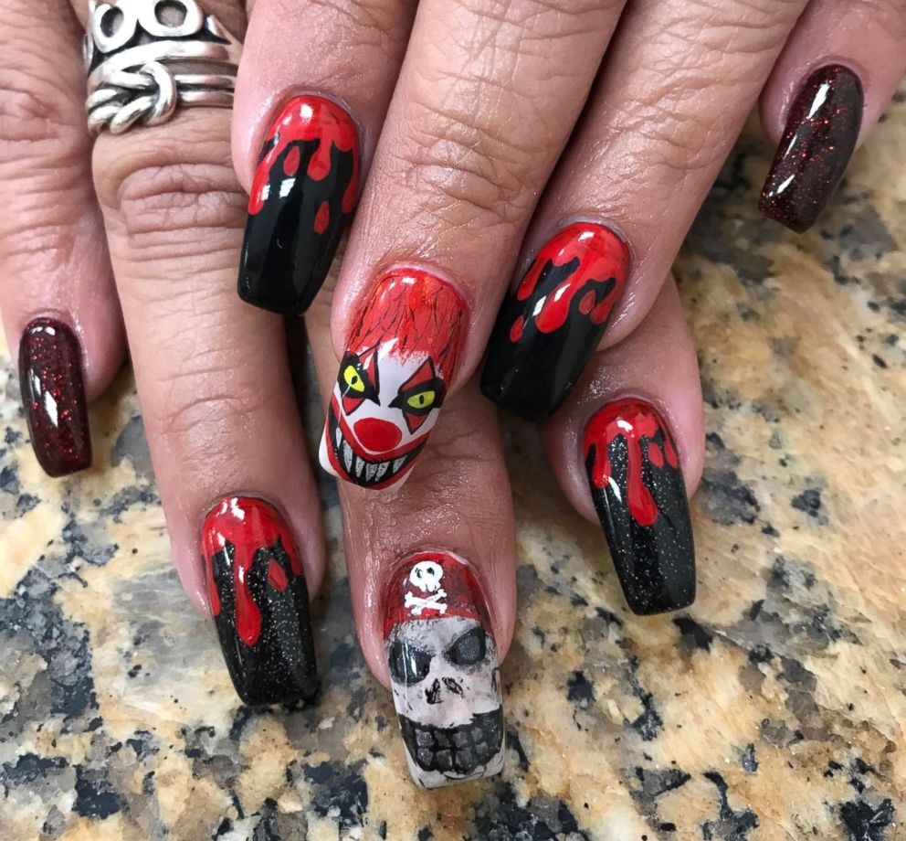 This Woman Doesnt Mess Around With Her Halloween Nail Art Abc News