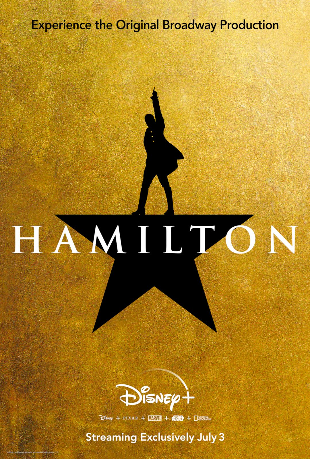 "PHOTO: The filmed version of the original Broadway production of ""Hamilton"" will premiere on Disney+ on July 3, 2020."