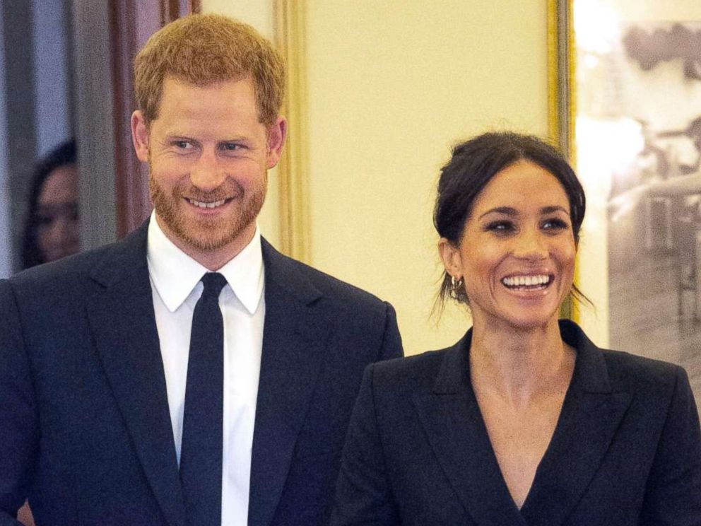 PHOTO: Prince Harry and Meghan, Duchess of Sussex attend a gala performance of the musical Hamilton, in London, Aug. 29 2018.