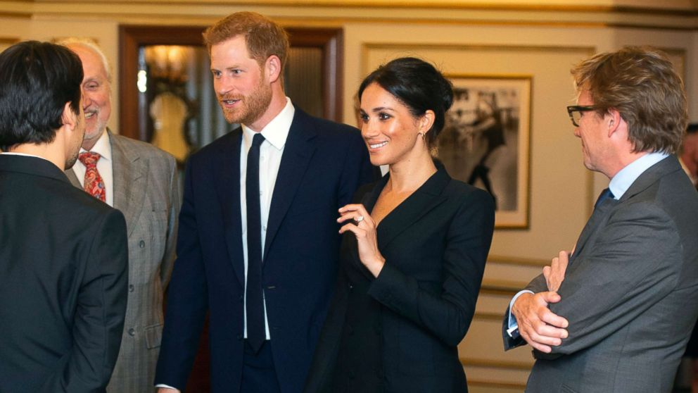 Prince Harry and Meghan, Duchess of Sussex attend a gala performance of the musical Hamilton, Aug. 29 2018.