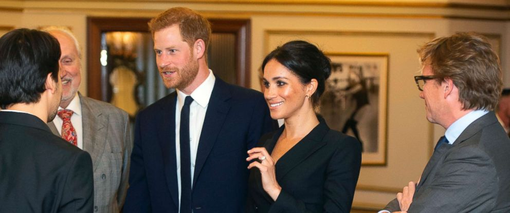 PHOTO: Prince Harry and Meghan Markle, Duchess of Sussex attend a gala performance of the musical Hamilton, Aug. 29 2018.