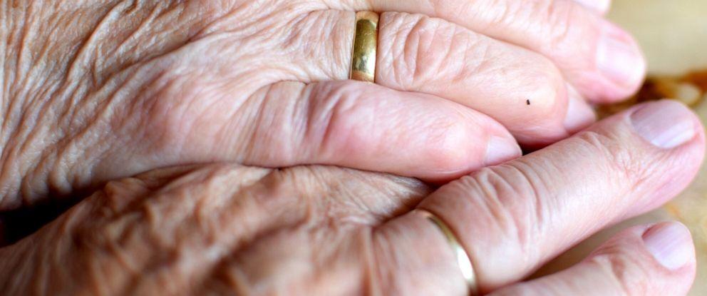 PHOTO: An undated stock photo of elderly hands. Elderly couple.