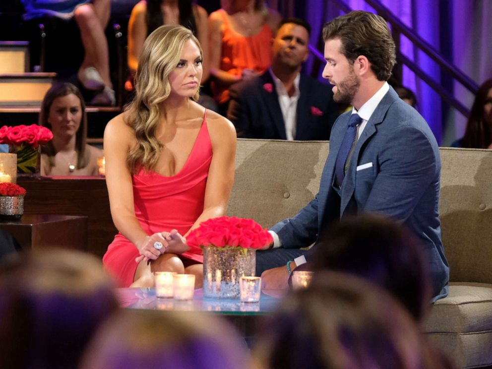PHOTO: Hannah and Jed during The Bachelorette: Season Finale Part 2.