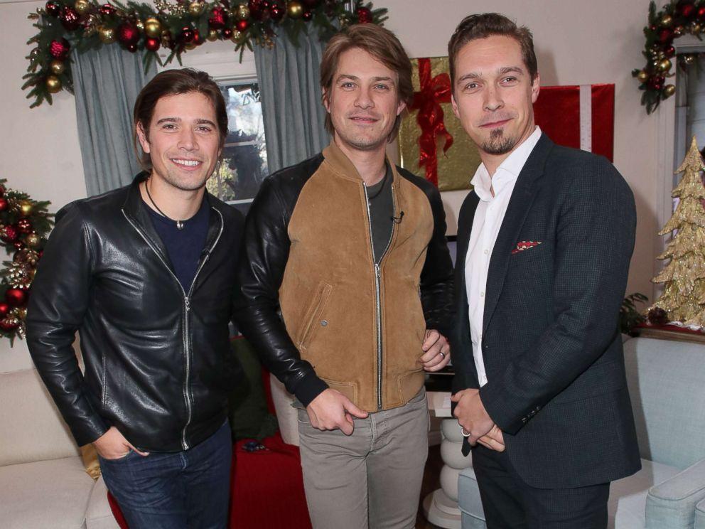 PHOTO: Zac Hanson, Taylor Hanson and Isaac Hanson of Hanson visit Hallmarks Home & Family at Universal Studios Hollywood on Dec. 5, 2017 in Universal City, Calif.