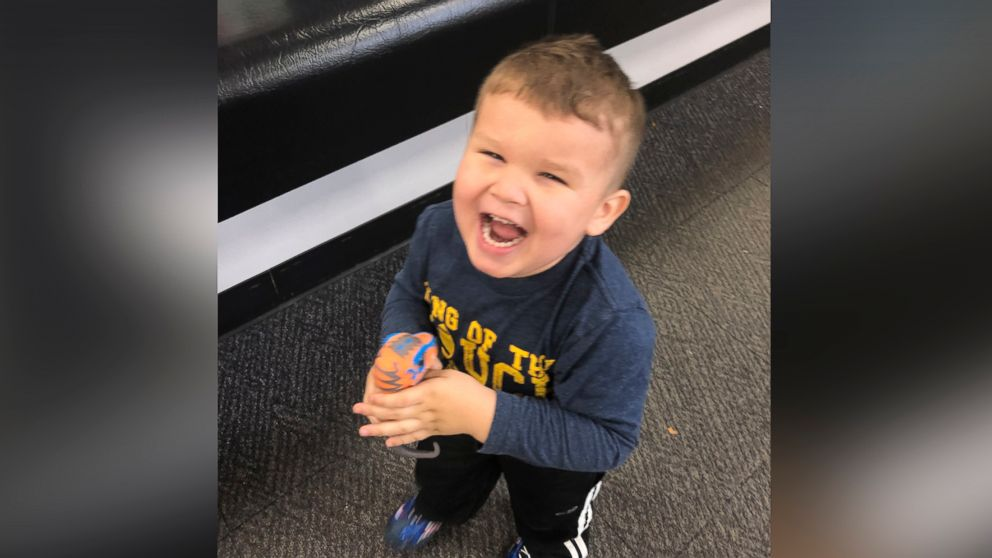 "3-year-old Jordan reunited with his ""fixed"" dinosaur after Best Buy employee performed ""surgery"" on his favorite toy."