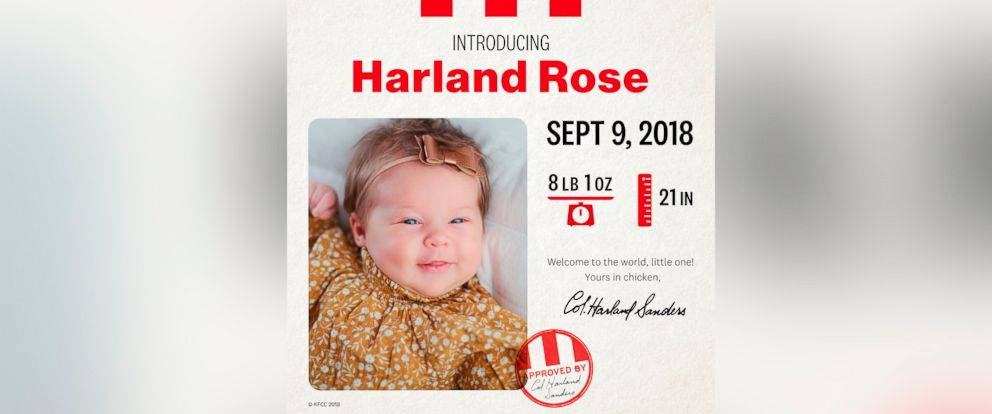 PHOTO: Harland Rose now has $11,000 to put towards her college fund thanks to KFC.
