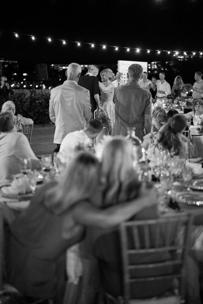 PHOTO: Wedding guests watch Harmony and Bruce Walton during their father-daughter dance.