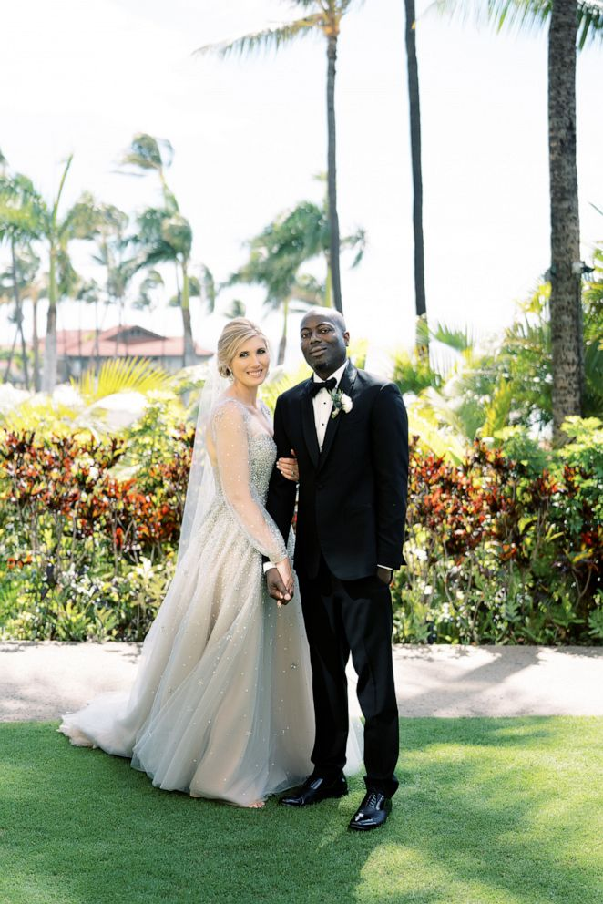 PHOTO: Harmony Walton and Bayo Ajigbotafe on their wedding day.