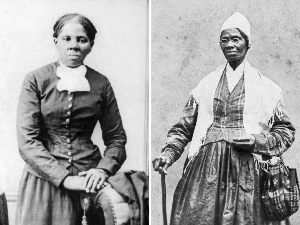 PHOTO: Abolitionist Harriet Tubman is pictured circa 1870, and womens rights advocate Sojourner Truth is pictured in 1864.