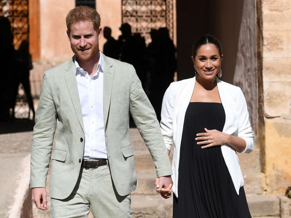 PHOTO: Prince Harry the Duke of Sussex and Britains Meghan, Duchess of Sussex visit the Andalusian Gardens in Rabat, Morocco, Feb. 25, 2019.
