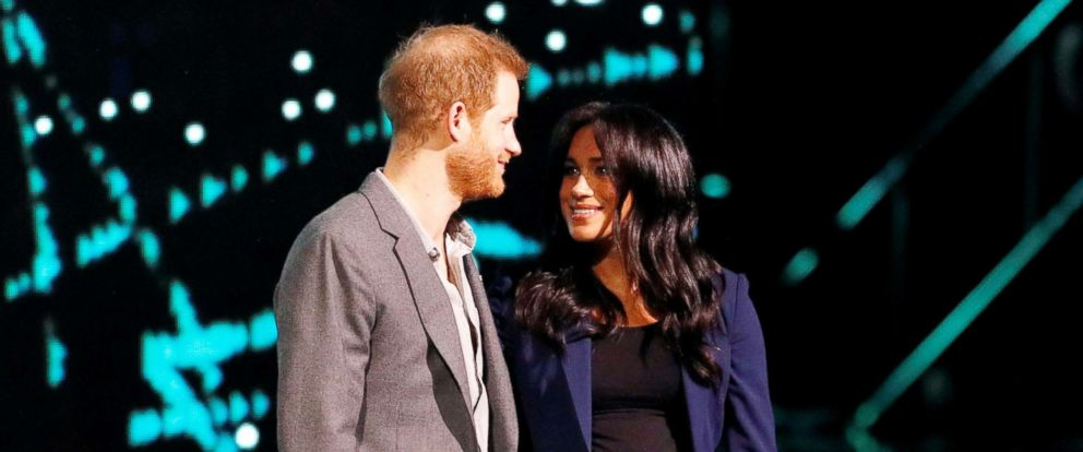 PHOTO: Britains Prince Harry and Meghan, Duchess of Sussex, attend the WE Day UK event at the SSE Arena in Wembley, London, March 6, 2019.