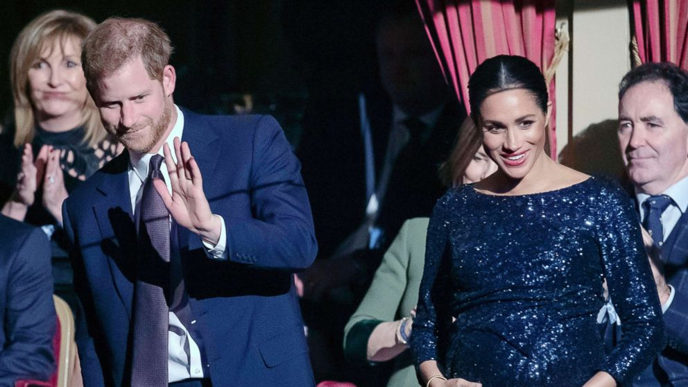 """Prince Harry, Duke of Sussex and Meghan, Duchess of Sussex attend the Cirque du Soleil Premiere Of """"TOTEM"""" at Royal Albert Hall, Jan. 16, 2019 in London."""