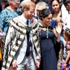 Prince Harry and Meghan Markle, The Duke and Duchess of Sussex, Oct 31, 2018,  in Rotorua, New Zealand.