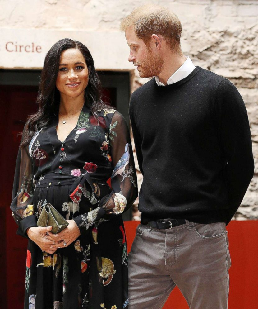 PHOTO: Britains Prince Harry, Duke of Sussex and Britains Meghan, Duchess of Sussex visit Bristol Old Vic theatre in Bristol, England, Feb. 1, 2019.