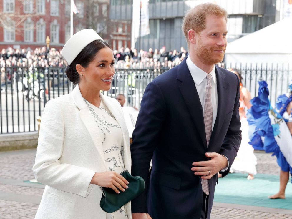 PHOTO: Meghan, Duchess of Sussex and Prince Harry, Duke of Sussex attend the 2019 Commonwealth Day service at Westminster Abbey, March 11, 2019 in London, England.