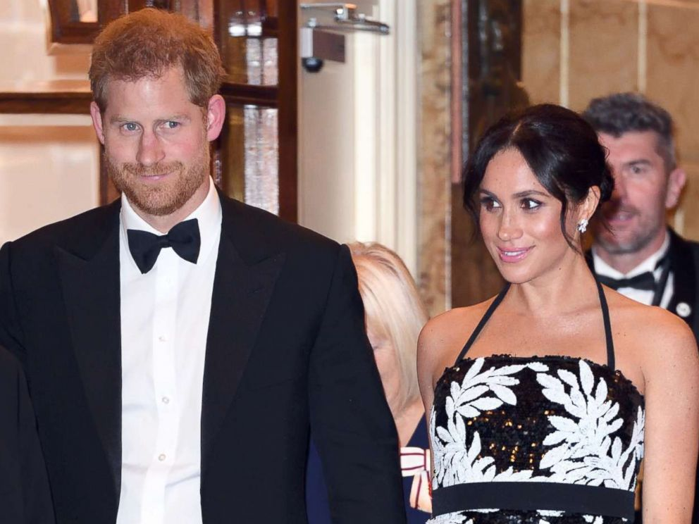 PHOTO: Prince Harry, Duke of Sussex and Meghan, Duchess of Sussex depart after attending the Royal Variety Performance 2018 at London Palladium, Nov. 19, 2018, in London.