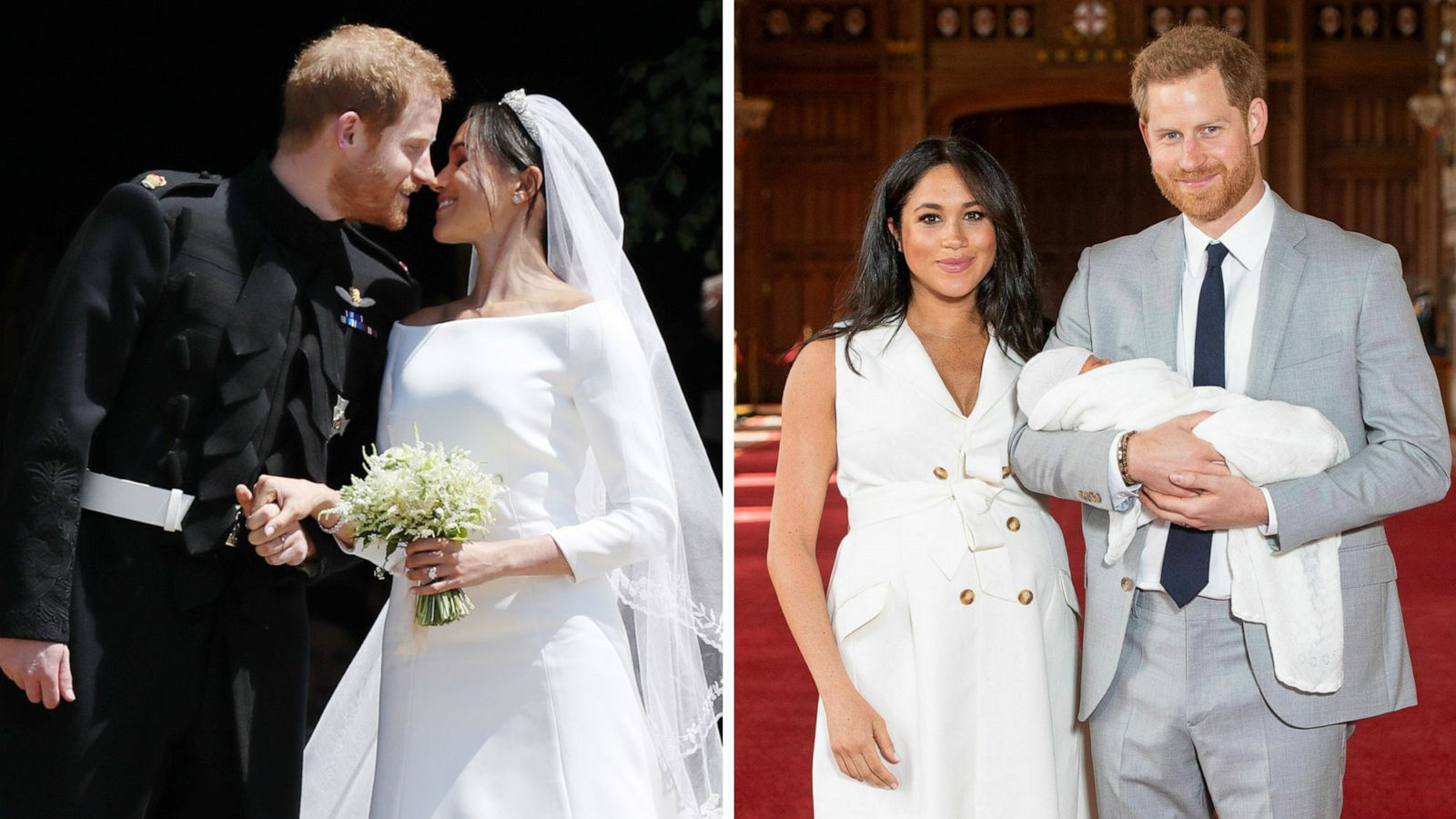happy 1st wedding anniversary prince harry and meghan see new photos from their royal wedding gma happy 1st wedding anniversary prince