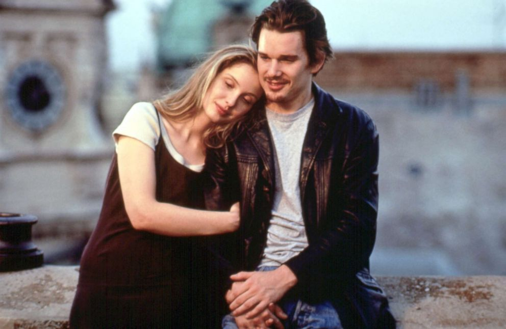 PHOTO: Julie Delpy and Ethan Hawke in a scene from Before Sunrise.