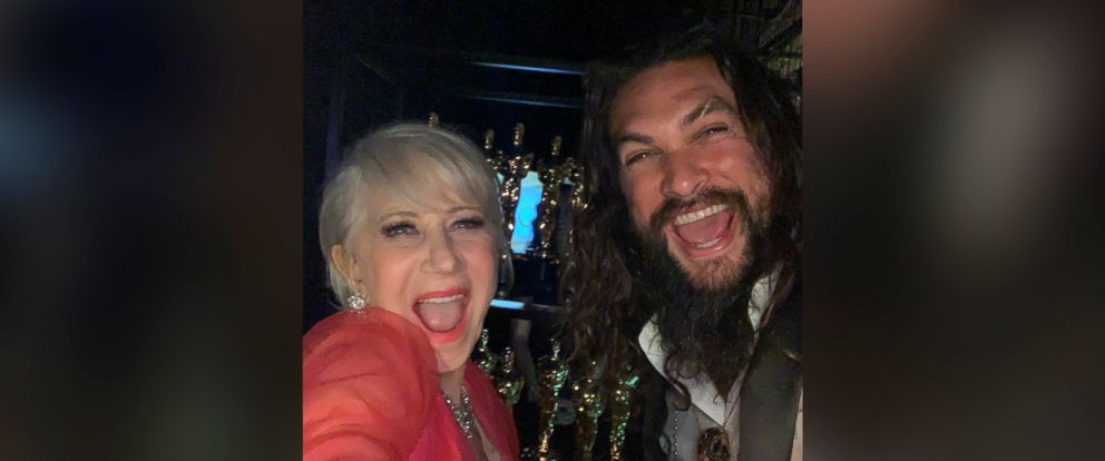 "PHOTO: Jason Momoa posted this photo with this caption: ""OSCARS. Cheeehuuuuuu aloha j. Helen love u,"" Feb. 24, 2019."