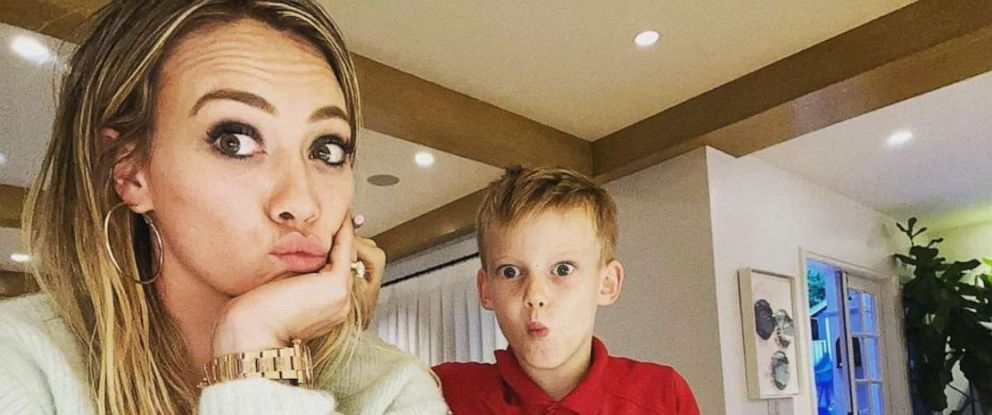 PHOTO: Hilary Duff with her son, Luca.